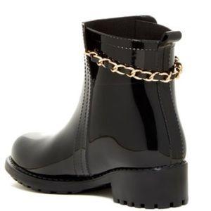 Modern Rush Rain Boots Cat Chain booties Black 06f7138a51